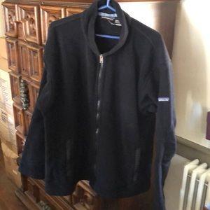 Patagonia black zip up fleece jacket, size L